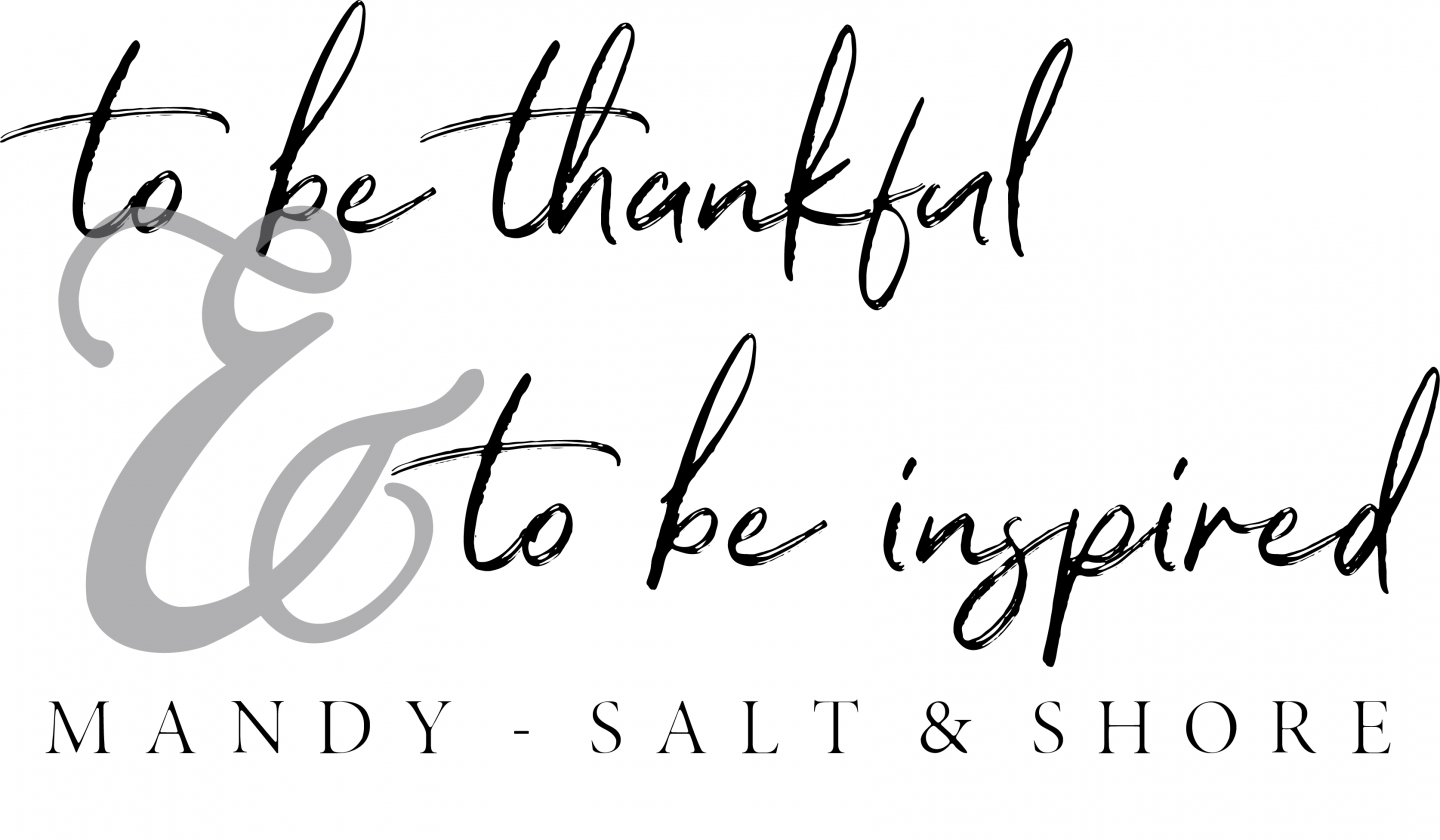 to be thankful and to be inspired